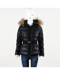 """Moncler - """"angers"""" Down Filled Raccoon Fur Hooded Coat - Lyst"""