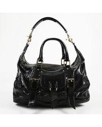 Botkier - Black Crinkled Patent Leather Shoulder Bag - Lyst