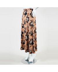 Dries Van Noten - Nwt Brown Multi Silk Blend Floral Print Maxi Skirt - Lyst