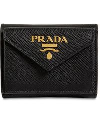 Prada Compact Saffiano Leather Envelope Wallet