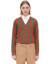 Gucci - Pullover Aus Wollmischjacquard - Lyst