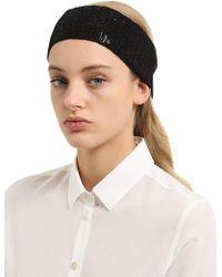 Scha - Sequined Cotton Headband - Lyst