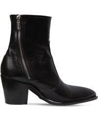 Rocco P - 60mm Zipped Leather Ankle Boots - Lyst