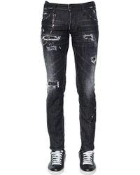 """DSquared² - """"Jeans """"""""clement"""""""" De Denim De Algodón 16.5cm"""" - Lyst"""