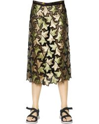 Marc Jacobs - Sequin Embroidered Cotton Guipure Skirt - Lyst