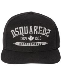 DSquared² - Embroidered Cotton Canvas Baseball Hat - Lyst