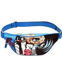 Moschino - Eyes Faux Leather Belt Pack - Lyst