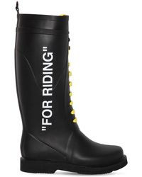 """Off-White c/o Virgil Abloh - 40mm """"for Riding"""" Rubber Rain Boots - Lyst"""