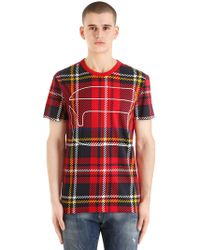 G-Star RAW - Royal Tartan Printed Cotton T-shirt - Lyst