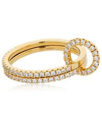 Apm Monaco - Double Finger Ring - Lyst