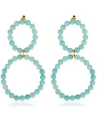 Saskia Diez - Holiday Amazonite Earrings - Lyst