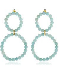 Saskia Diez - Holiday Amazonite Earrings - Lyst