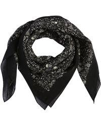 Saint Laurent - Paisley & Skull Printed Wool Scarf - Lyst