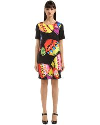 Boutique Moschino - Butterfly Print Cady Dress - Lyst