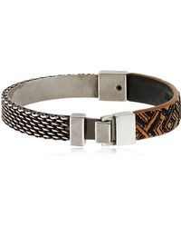 Northskull | Woto Embroidered Tag Bracelet | Lyst