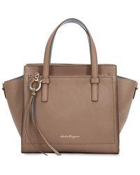 Ferragamo - Small Amy Leather Top Handle Bag - Lyst