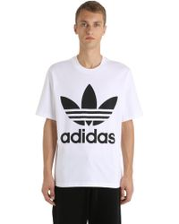adidas Originals - Oversized Logo Cotton Jersey T-shirt - Lyst