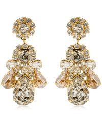 Shourouk - Patina Clip-on Earrings - Lyst