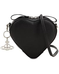 Vivienne Westwood - Johanna Heart Leather Shoulder Bag - Lyst