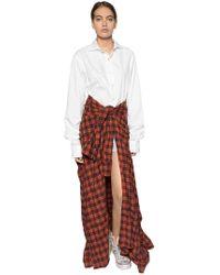 Faith Connexion - Checked Skirt & Poplin Shirt Dress - Lyst