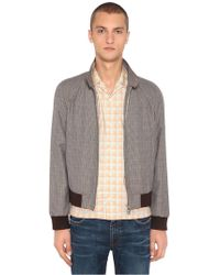 Prada - All Designer Products - Bomber In Lana E Mohair Check - Lyst