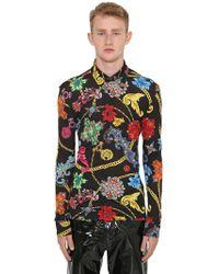 Versace - Hemd Mit Druck - Lyst