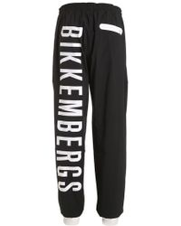 Bikkembergs - Logo Printed Light Track Pants - Lyst