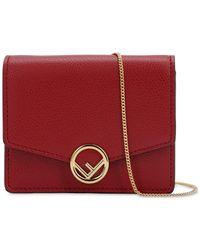 Fendi - Micro Leather Card Holder Bag - Lyst