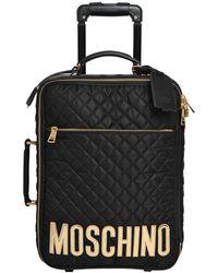 Moschino - Trolley Medio In Nylon Trapuntato - Lyst