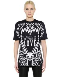 Givenchy - Power Of Love Cotton Jersey T-shirt - Lyst