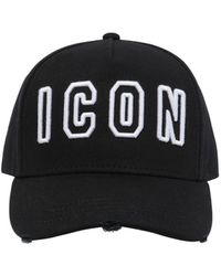 DSquared² - Icon Frame Cotton Baseball Hat - Lyst