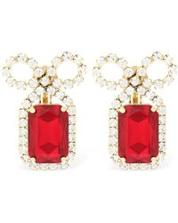 Ca&Lou - Louise Ruby Clip-on Earrings - Lyst