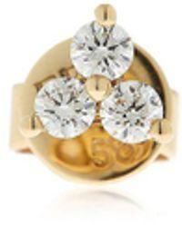 EF Collection - Trio Diamond Mono Stud Earring - Lyst