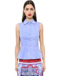 Mary Katrantzou - Doric Embroidered Cotton Blend Shirt - Lyst