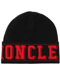 Moncler - Logo Knit Beanie Hat - Lyst