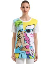 Boutique Moschino | T-shirt In Jersey Di Cotone | Lyst