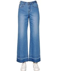 Steve J & Yoni P - Wide Washed Cotton Denim Jeans - Lyst