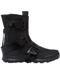 Yohji Yamamoto - Jet Black High Top Sneakers - Lyst