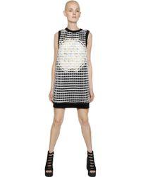 Natargeorgiou - Neoprene & Cotton Dress With Lurex - Lyst