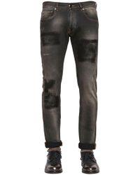 Etro - 17cm Slim Fit Patch Effect Denim Jeans - Lyst