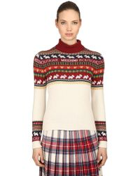 Boutique Moschino - Lurex Jacquard Turtleneck Knit Jumper - Lyst