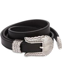 KATE CATE - 15mm Low Waist Thin Kim Leather Belt - Lyst