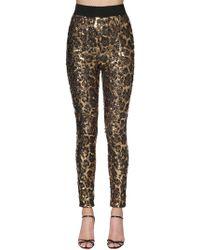 Dolce & Gabbana - Leopard Sequined Leggings - Lyst