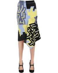 Peter Pilotto - Wool Blend Ottoman Jacquard Skirt - Lyst