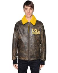 DIESEL - Noize Leather Aviator Jacket - Lyst