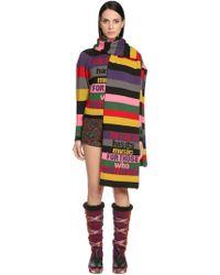 Etro | Intarsia Striped Wool Scarf | Lyst