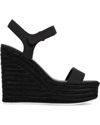 Kendall + Kylie - 120mm Grand Faux Leather Wedges - Lyst