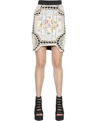 Natargeorgiou - Cotton Crochet & Neoprene Skirt - Lyst