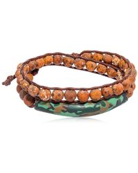 Colana - Tiger Eye & Clay Effect Wrap Bracelet - Lyst