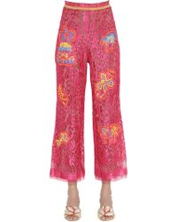 Peter Pilotto - Embroidered Lace Cropped Trousers - Lyst